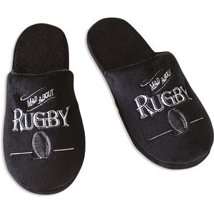 Ultimate Man Gift Slippers - Mad About Rugby (Large)