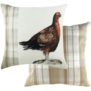 Evans Lichfield Hand Painted Animals Collection Cushion: Grouse 43cm x 43cm