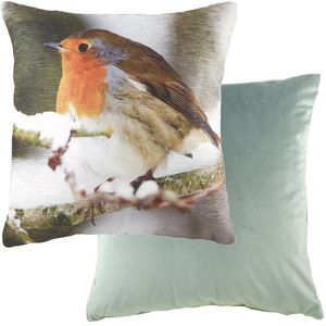 """Evans Lichfield Photo Collection Cushion Cover: Robin 17x17"""""""