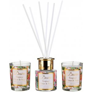Desire Reed Diffuser & Candles Gift Set: Citrus & Sage