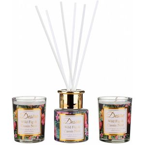 Desire Reed Diffuser & Candles Gift Set: Wild Fig