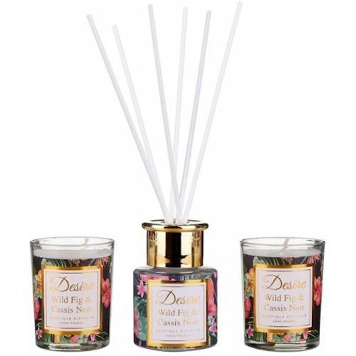 Desire Reed Diffuser & Candles Gift Set: Wild Fig & Cassis Noir