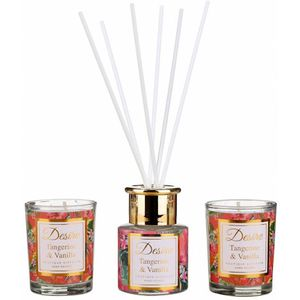 Desire Reed Diffuser & Candles Gift Set: Tangerine
