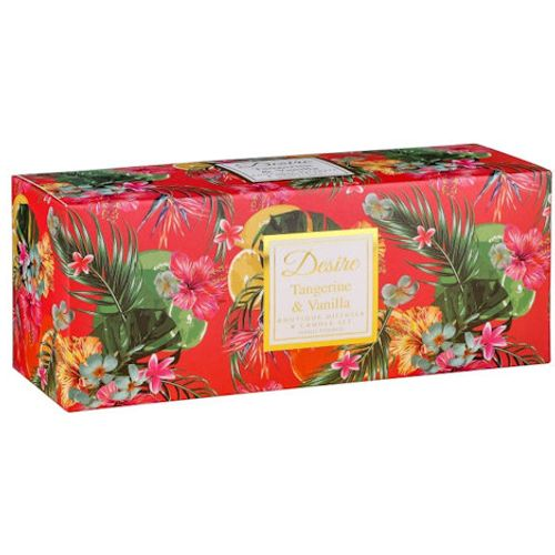 Desire Reed Diffuser & Candles Gift Set: Tangerine & Vanilla