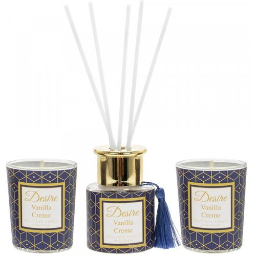 Desire Reed Diffuser & Candles Gift Set: Vanilla Creme