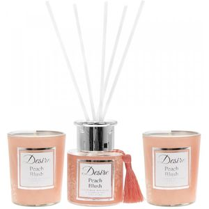 Desire Reed Diffuser & Candles Gift Set- Peach Blush