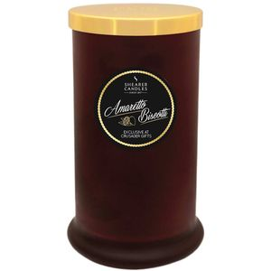 Shearer Candles Exclusive Pillar Jar Candle - Amaretto Biscotti
