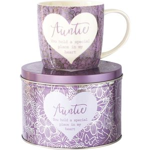 Said with Sentiment Mug in Tin - Auntie