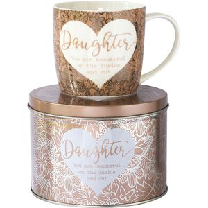 Said with Sentiment Mug in Tin - Daughter