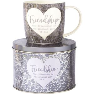 Said with Sentiment Mug in Gift Tin - Friendship