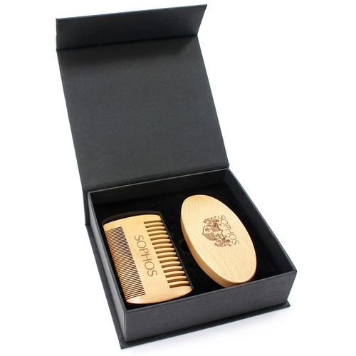 Sophos Beard Grooming Kit - Double Comb & Brush 724200