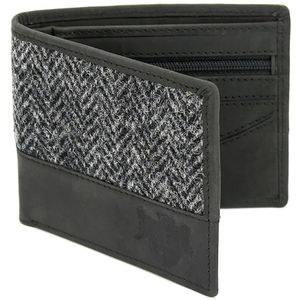 Harris Tweed Wallet: Grey Herringbone