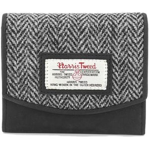 Harris Tweed Purse (Small): Grey Herringbone