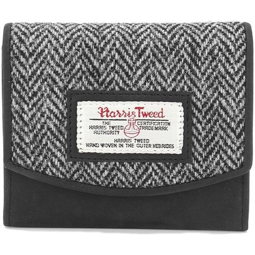 Harris Tweed Small Purse: Grey Herringbone