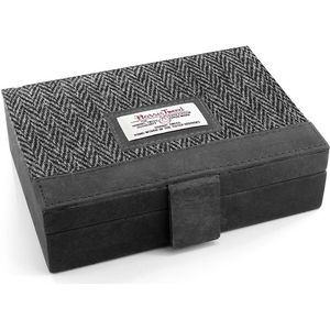 Harris Tweed Jewellery Box - Grey Herringbone