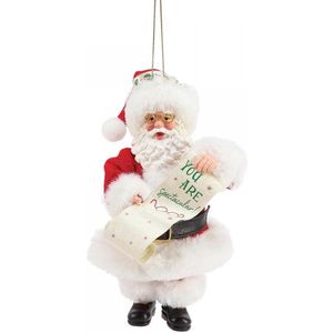 Possible Dreams Santa Hanging Ornament - You are Spectacular