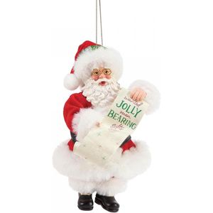 Possible Dreams Santa Hanging Ornament - Bearing Gifts