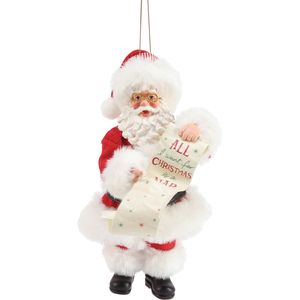 Possible Dreams Santa Hanging Ornament - All I Want for Christmas is a Nap
