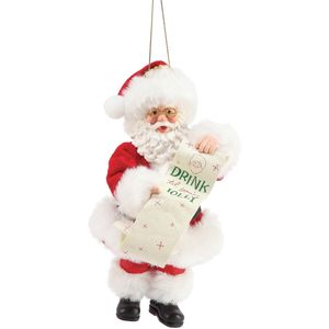 Possible Dreams Santa Hanging Ornament - Till Youre Jolly