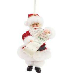 Possible Dreams Santa Hanging Ornament - Tinsel In A Tangle