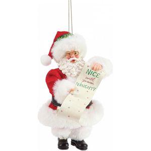 Possible Dreams Santa Hanging Ornament - Nice until Proven Naughty