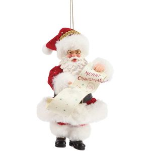 Possible Dreams Santa Hanging Ornament - Merry Christmas