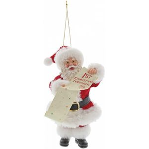 Possible Dreams Santa Hanging Ornament - 1st Christmas Together
