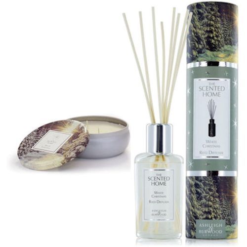 Ashleigh & Burwood Scented Home Reed Diffuser & Candle Set - White Christmas