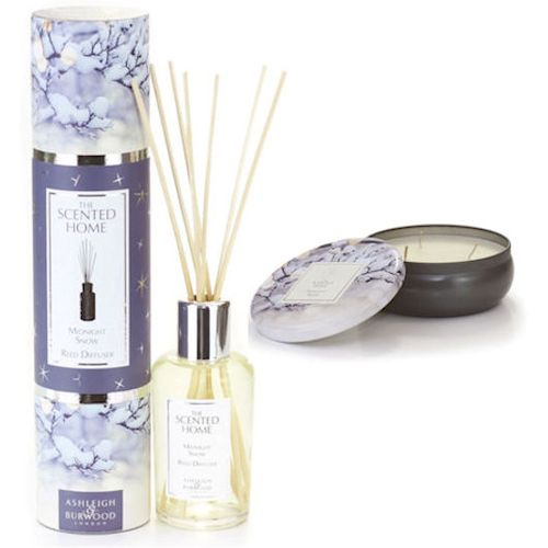Ashleigh & Burwood Scented Home Reed Diffuser & Candle Set - Midnight Snow