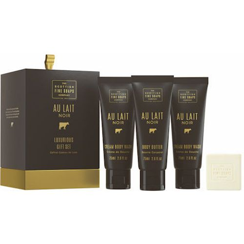 Scottish Fine Soaps Au Lait Noir Luxurious Gift Set