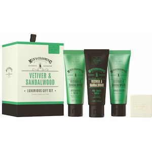Scottish Fine Soaps Mens Grooming Luxurious Gift Set - Vetiver & Sandalwood
