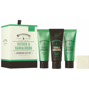 Scottish Fine Soaps Mens Grooming Luxurious Gift Set - Vetiver & Sandalwood