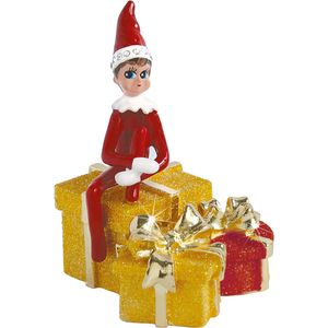 Craycombe Trinkets Elf on Presents Trinket Box