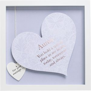 Said with Sentiment Heart in Frame - Auntie