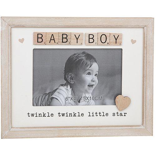 "Scrabble Sentiments Photo Frame 6"" x 4"" - Baby Boy"