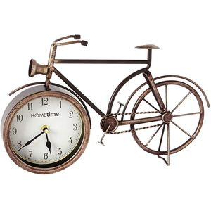Hometime Metal Mantel Clock - Vintage Bicycle