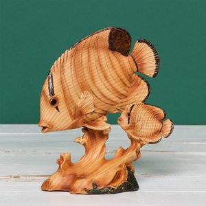 Naturecraft Wood Effect Resin Figurine - Fish