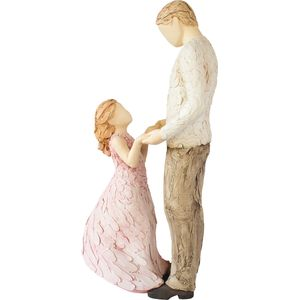 More Than Words Angel of Mine Father & Daughter Figurine