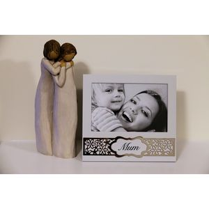 Willow Tree Figurine & Mum Photo Frame Set - Mother & Daughter