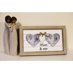 Willow Tree Figurine & Mum & Me Photo Frame Set - Mother & Daughter