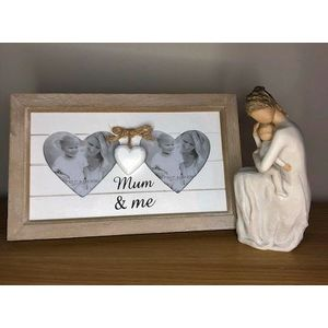 Willow Tree Always Figurine with Mum & Me Double Heart Photo Frame