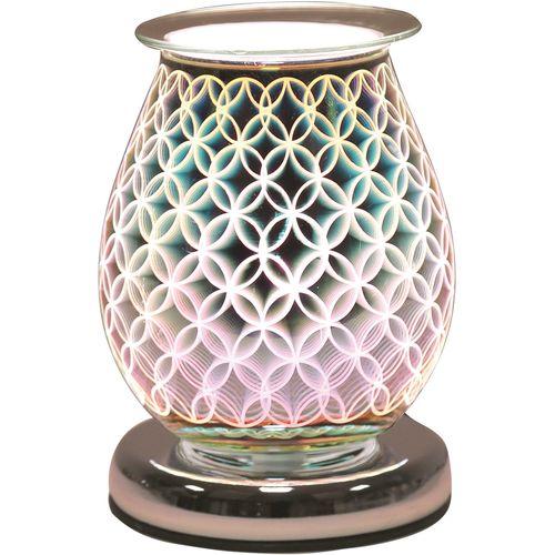 Aroma Electric Wax Melt Burner - Oval 3D Geo Circle AR1452