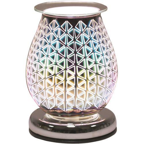Aroma Electric Wax Melt Burner - Oval 3D Geo Triangle AR1454