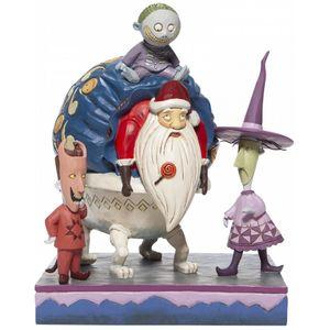 Disney Traditions Bagged & Delivered (Lock, Shock & Barrel with Santa) Figurine