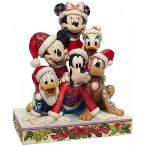 Disney Traditions Piled High with Holiday Cheer (Mickey & Friends) Figurine