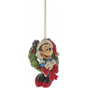 Disney Traditions Hanging Ornament - Minnie Mouse with Wreath