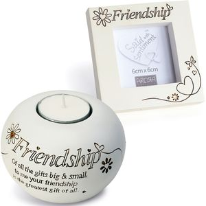 Said with Sentiment Candle Holder & Frame: Friendship