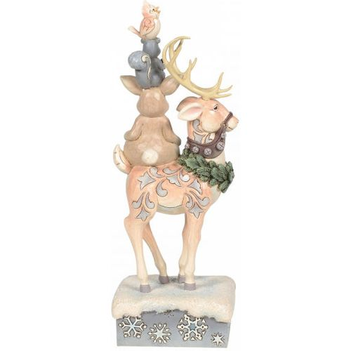 Heartwood Creek White Woodland Figurine - Winter`s Friends (Stacked Animals) 6006576