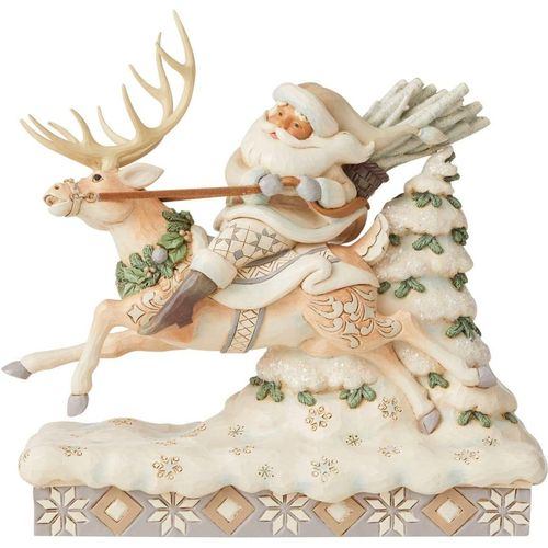Heartwood Creek White Woodland Santa Figurine - On Course for Christmas 6006579