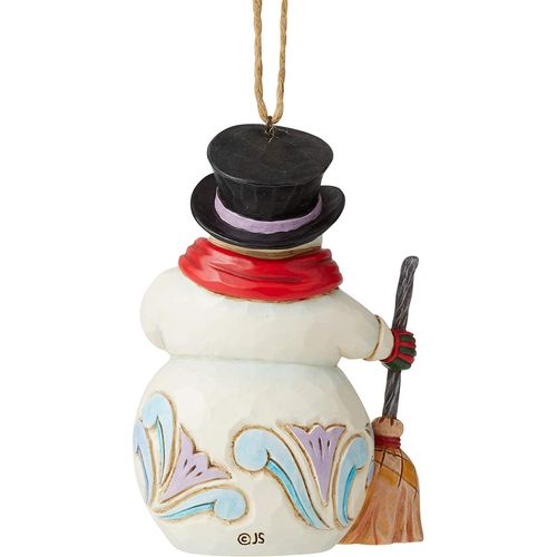 Heartwood Creek Hanging Ornament - Snowman with Long Scarf and Broom